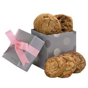 Geoff & Drews Silver Pink Gift Box of 12 Fresh Baked Chocolate Chip