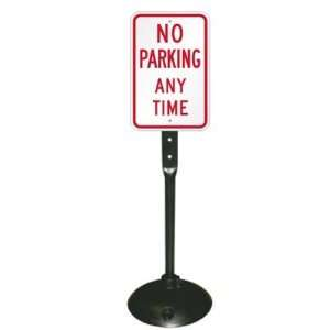 No Parking Anytime Sign & Post Kit Engineer Grade, 14 x