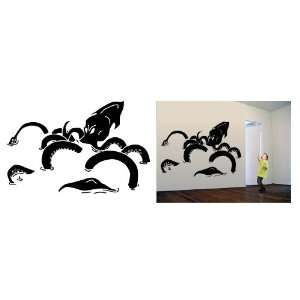 Kraken Giant Squid Sea Monster Wall Art Vinyl Decal