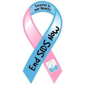 End SIDS Now Awareness Ribbon Magnet Automotive