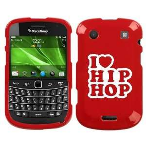 BOLD 9930 WHITE I LOVE HIP HOP ON RED HARD CASE COVER