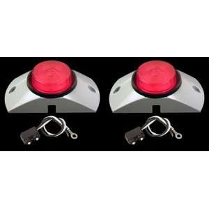 2.5 Red LED Semi Truck Trailer Boat Marker Lights KIT