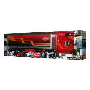 Peterbilt 387 Hauler Trailer Truck 1/32 Red W/orange Toys