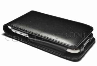 New Flip Leather Hard Case Cover for iPhone 3G 3GS BK