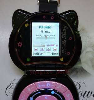 New Hello Kitty cell phone Unlocked watch style  mp4 fm radio 1GB