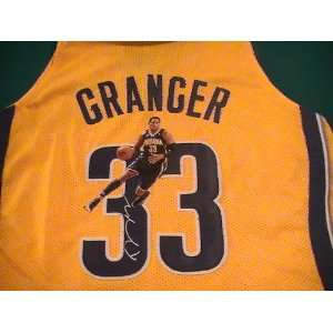 DANNY GRANGER SIGNED AUTOGRAPHED JERSEY INDIANA PACERS COA