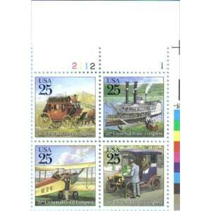 POSTAL CONGRESS ~ TRADITIONAL CLASSIC MAIL DELIVERY #2437a Plate Block