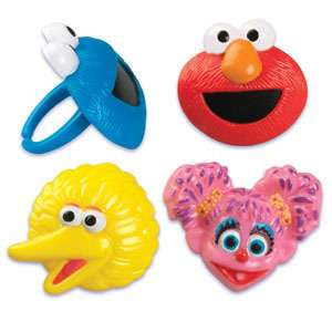 Sesame Street Elmo Big Bird Cake Rings Party Favors