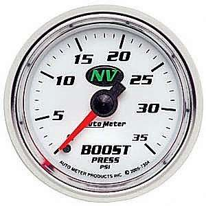 Auto Meter 7304 NV 2 1/16 0 35 PSI Mechanical Boost Gauge