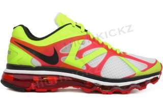 Nike Air Max 2012 487982 103 Men White Black Volt Running Training
