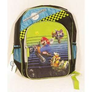 Mario Kart Wii Super Mario 16 School Large Backpack Toys