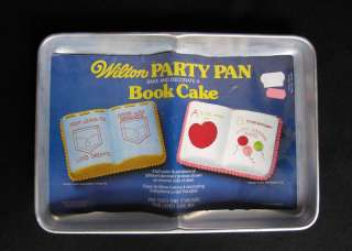 Wilton BOOK Party Cake Pan, 1977, # 502 7466, Retired