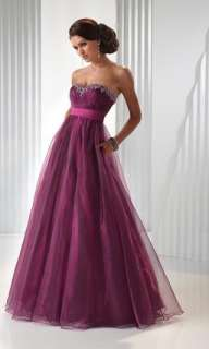 Stunning Organza Beadwork Formal Prom Party Evening Ball Gown