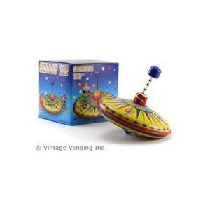 Spinning Top Tin Toy Toys & Games
