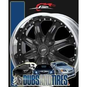 20 Inch 20x8.5 DALE EARNHARDT JR wheels OCTANE Gloss Black w/ Machined