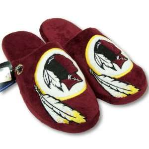 WASHINGTON REDSKINS OFFICIAL LOGO PLUSH SLIPPERS SZ L
