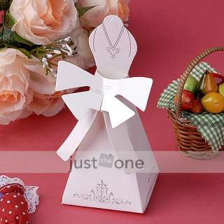 50 x Bridal Gown Wedding Party Favors Candy Gifts Boxes