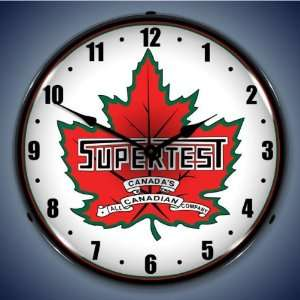 Supertest Gas Logo Lighted Clock