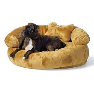 Fleece Comfy Couch Pet Bed   Brown, Extra Large (Up to 100