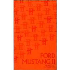 1975 FORD MUSTANG Owners Manual User Guide Automotive