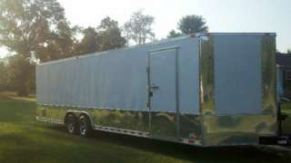 28 plus 2ft v nose 30ft inside enclosed cargo motorcycle trailer car