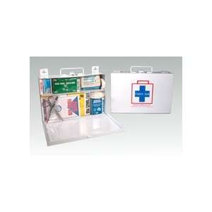 Metal 25 Person First Aid Kit (case w/supplies) Health