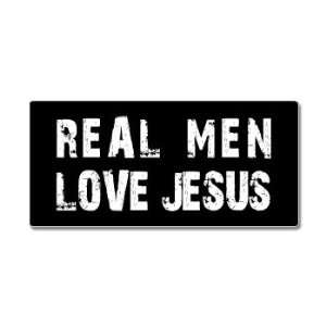 Real Men Love Jesus   Window Bumper Sticker Automotive