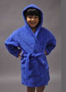 GIRLS AND BOYS KIDS TERRY TURKISH ROBES BATHROBES