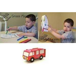 Calafant Recyclable Craft Kit   Model Fire Engine Truck Toys & Games