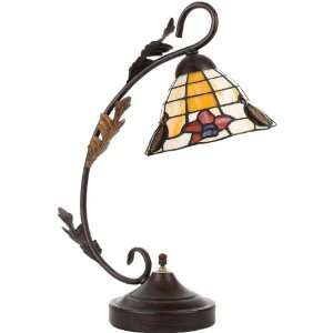 Globe Electric 6155501 Tiffany Table Lamp, Dark Bronze