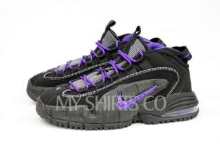 Air Max Penny Jet Black Concord Purple Big Kids Basketball Shoes NEW