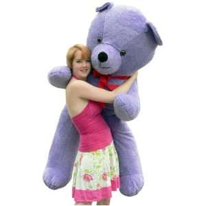 Giant 6 feet tall Purple Teddy Bear Huge Stuffed Big Plush Bear   Made