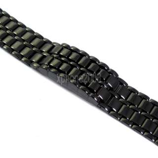 New Fashion Cool Black Lava Iron Samurai Metal LED Faceless Bracelet