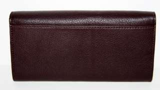 KATE SPADE Bexley CYNDY Slim WALLET Chocolate Leather WLRU0775 * NEW $