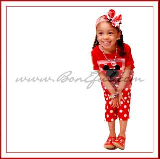 BOOAK Boutique *CUSTOM Girl Disney Minnie Mouse Polka Dot Fabric Red