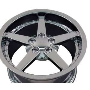 Deep Dish Wheel with Rivets Fits Corvette   Chrome 19x10 Automotive