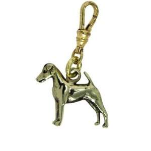 Smooth Fox Terrier Brass Charm glitzs Jewelry