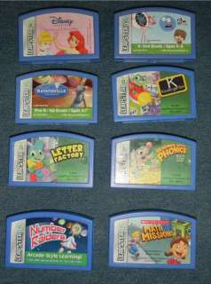 Lot of 8 Leapster Leap Frog Games letter factory princess math mission