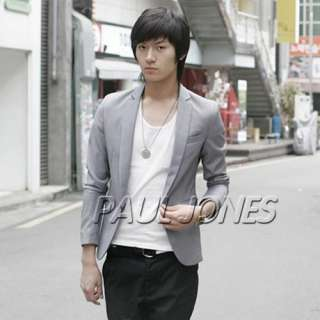 Mens Casual Slim Fit One Button Coats POP Blazer & Jacket for MAN