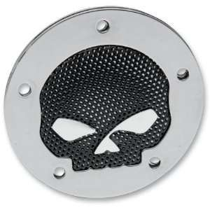 Drag Specialties Accent Style Points Cover   Skull   Chrome 63142B2