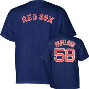 Jonathan Papelbon Majestic Name and Number Boston Red Sox