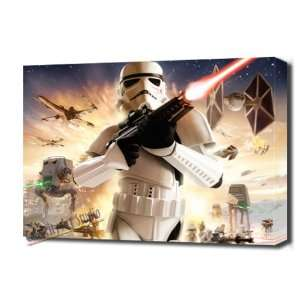STAR WARS EMPIRE AT WAR STORMTROOPER CANVAS ART MOUNTED