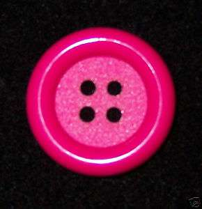 35% OFF 2 LARGE PLASTIC FUSCHIA/HOT PINK 4 HOLE BUTTON