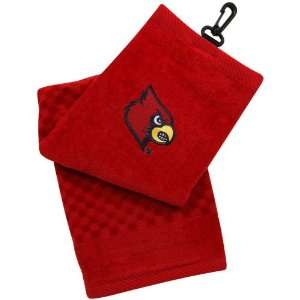 NCAA Louisville Cardinals Red Embroidered Team Logo Tri
