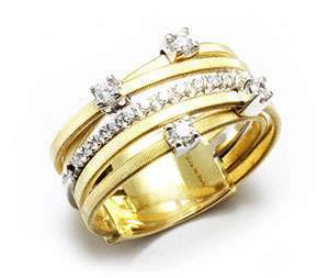 Marco Bicego  GOA  Yellow Gold Diamonds Ring AG270 B2