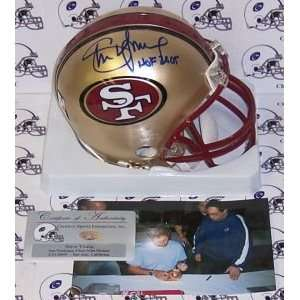 Steve Young Hand Signed San Francisco 49ers Mini Helmet