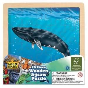 Blue Whale Wooden Jigsaw Puzzle Toys & Games
