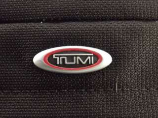 Tumi Ducati Deso Collection Black Red Ballistic Nylon Flap Crossbody