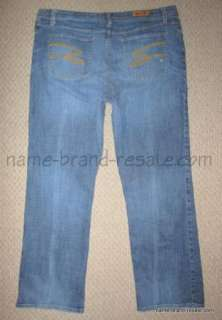 LANE BRYANT SEVEN 7 BOOTCUT DISTRESSED STRETCH JEANS WOMENS PLUS SIZE