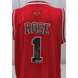 Derrick Rose Signed Chicago Bulls Jersey   Autographed NBA Jerseys